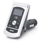 "1"" LCD MP3 Player FM Transmitter w/ USB / 3.5MM Audio / TF - Silver + Black (DC 12~24V)"