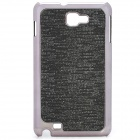 Protective Carbon Fiber Back Case for Samsung Galaxy Note i9220/GT-N7000 - Black