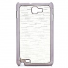 Protective Carbon Fiber Back Case for Samsung Galaxy Note i9220/GT-N7000 - Silver