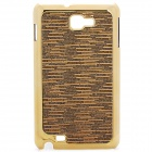 Protective Carbon Fiber Back Case for Samsung Galaxy Note i9220/GT-N7000 - Brown