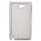 Protective Carbon Fiber Back Case for Samsung Galaxy Note i9220/GT-N7000 - Grey