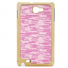 Protective Carbon Fiber Back Case for Samsung Galaxy Note i9220/GT-N7000 - Pink
