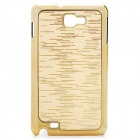 Protective Carbon Fiber Back Case for Samsung Galaxy Note i9220/GT-N7000 - Golden