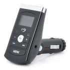 "1"" LCD MP3 Player FM Transmitter w/ USB / 3.5MM Audio / TF - Black (DC 12~24V)"