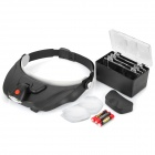White LED Headlamp with Magnifier Lenses (3 x AAA)