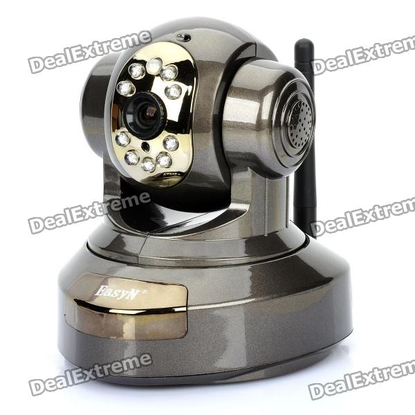 H.264 300KP CMOS Wireless Network Surveillance Camera w/ 9-LED Night Vision - Grey