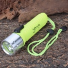 ART-NR CL3197 CREE 3W LED 1-Mode 120LM White LED Diving Flashlight w/ Strap & Charger (1 x 18650)
