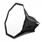 Octangle Folding Speedlight Flash Soft Box - Black + Silver (M-Size)
