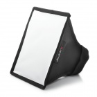 Square Folding Speedlight Flash Soft Box - Black + Silver