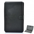 Protective 80-key Keyboard with Folding Leather Case for 7&quot; Tablet - Black