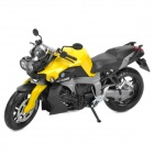 1:12 BMW K1300R Model Motorcycle for Display / Collection - Yellow + Black