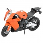1:12 KTM RC8 Model Motorcycle for Display / Collection - Orange + Black