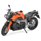 1:12 BMW K1300R Model Motorcycle for Display / Collection - Orange + Black + Grey
