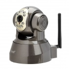 FS-M166 Wireless 802.11b/g 300KP CMOS Network Surveillance IP Camera w/ 9-IR LED - Deep Grey