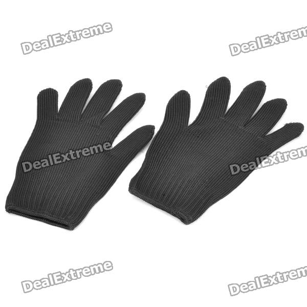 Outdoor Defend / Anti-Cut Steel Fiber Gloves - Black (Pair)