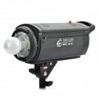 Professional Digital 600W/S 5200K White Light Shadow Room Flash Lamp / Studio Light Kits - Black