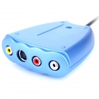 USB 2.0 Video & Audio Grabber Capture - Blue