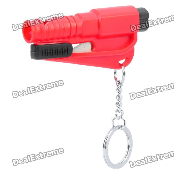 3-in-1 Whistle / Seat Belt Cutter / Window Break Keychain (Random Color)