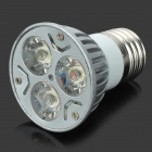 E27 3W 3-LED Yellow Light Bulb (AC 110~220V)
