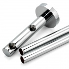Chromed Dual-Bar Bathroom Towel Rack