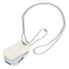 Alloy Dog Tag Necklace Designed USB 2.0 Flash Drive - Silver (4GB)