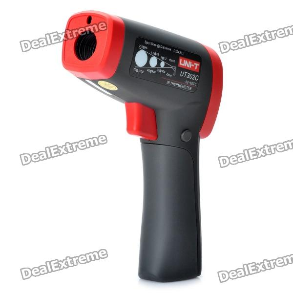"UNI-T UT302C 1.6"" LCD Digital Infrared Thermometer - Red + Iron Gray (6F22)"