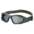 Tactical Metal Mesh Protective Goggles for War Game - Army Green (Size-S)