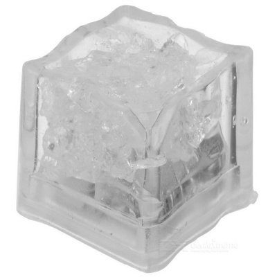 RGB LED Ice Cube - Transparent White (3*CR1620)
