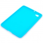 Protective Silicone Back Case for Samsung P6800 - Blue