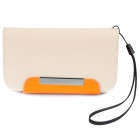 KALAIDENG Protective PU Leather Flip-Open Case for HTC AMAZE 4G (G22) - Off White