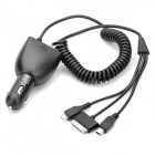 Multifunction Dual USB Car Cigarette Lighter Charger - Black (12-24V)