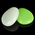 Smart Pebble Universal Silicone Cradles with Night Light - Green + Milky White (2-Piece Pack)