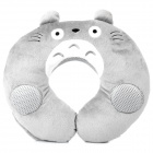 Totoro U-Style Neck Pillow Cushion Stereo Music Speaker - Grey + White (3.5mm +2.5mm Jack)