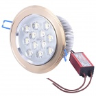 12W 3500K 1050-Lumen 12-LED Warm White Light Ceiling Down Lamp (AC 100~245V)