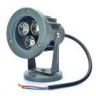 3W 3500K 260-Lumen 3-LED Warm White Light Spot Lamp - Dark Grey (DC 12V)