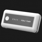 4800mAh Rechargeable Mobile Power Pack with 6 Adapters and 1-LED White Light Flashlight - White