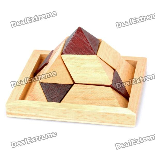 Educational Wooden Pyramid Puzzle Toy tool kit wooden toy kids diy construction new educational nut disassembling tool wooden toys gift oyuncak