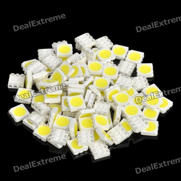 DIY 18-20LM 6000-6500K White SMD 5050 LED (100-Piece Pack)