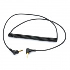 3.5mm audio hane till hane crimp elastisk kabel - svart (69 ~ 153cm)