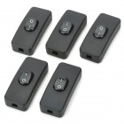 KCD1-112 Rocker Switches with Screws Pack - Black (5-Piece Pack)