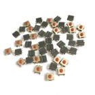 CC 12V 50mA Mini Tact Switches - Negro (50-Piece Pack / 6 x 6 x 3,1 mm)
