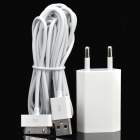 AC Power Adapter w/ USB Data Charging Cable for iPhone 4 / 4S - White