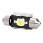 36mm 2W 6500K 110-Lumen 1-7060 SMD LED White Light Car Lamp (DC 12~18V)