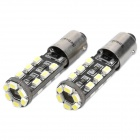 BA9S 1.8W 6500K 144-Lumen 18-3020 SMD LED White Light Car Lamps (DC 12~18V / Pair)