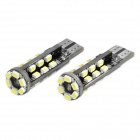 T10 3W 6500K 240-Lumen 30-3020 SMD LED White Light Car Lamps (DC 12~18V / Pair)