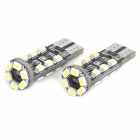 T10 1.8W 6500K 144-Lumen 18-3020 SMD LED White Light Car Lamps (DC 12~18V / Pair)