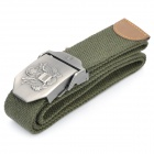 Taktische robustem Canvas Gürtel w / US SWAT Milspex Adler Muster Alloy Buckle - Army Green