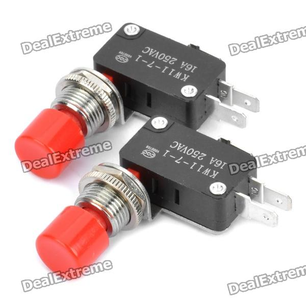 KW11-7-1 Micro Switches - Pair (AC 250V / 16A) панель декоративная awenta pet100 д вентилятора kw сатин