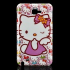 Cute Hello Kitty Pattern Protective PC Back Case for Samsung i9220 - White + Light Purple
