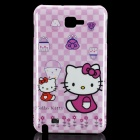Cute Hello Kitty Pattern Protective PC Back Case for Samsung i9220 - Pink + Light Purple
